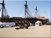 SU6200 : Port side, HMS Victory, Historic Dockyard, Portsmouth by Robin Sones