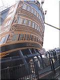 SU6200 : Stern, HMS Victory, Historic Dockyard, Portsmouth by Robin Sones