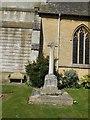 SP1620 : Cross outside St Lawrence Church by Paul Gillett