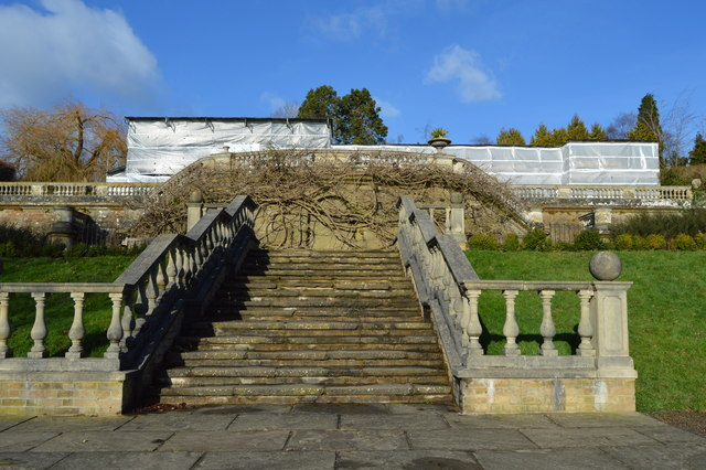 Steps to former Dunorlan House by N Chadwick