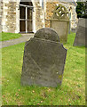 SK6826 : Slate headstone, Upper Broughton Churchyard by Alan Murray-Rust