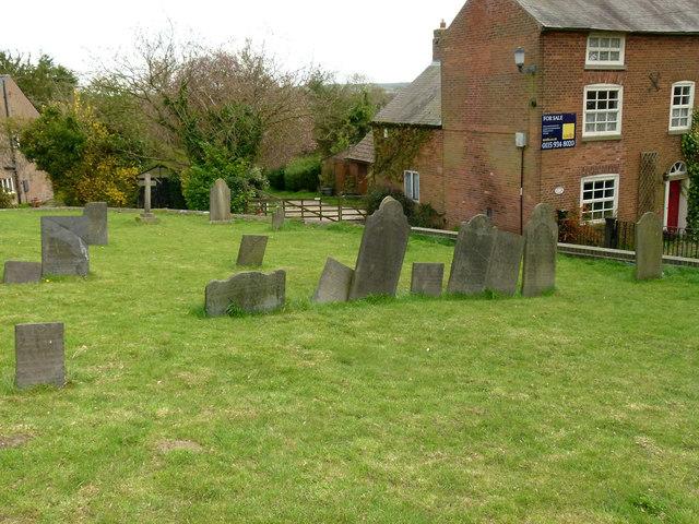 Slate headstones, Upper Broughton Churchyard