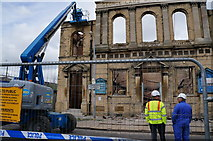 TA0830 : Fire damaged George Lamb Memorial Hall by Ian S