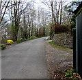 ST0495 : Yellow grit box alongside Mynachdy Road, Ynysybwl by Jaggery
