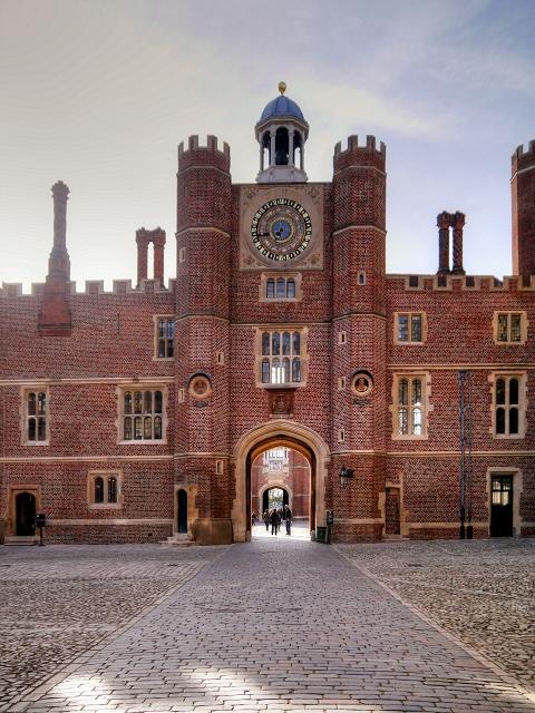 Hampton Court Palace; Clock Court, Anne Boleyn's Gatehouse and the Astronomical Clock