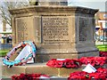TQ0179 : Langley War Memorial (detail) by David Dixon