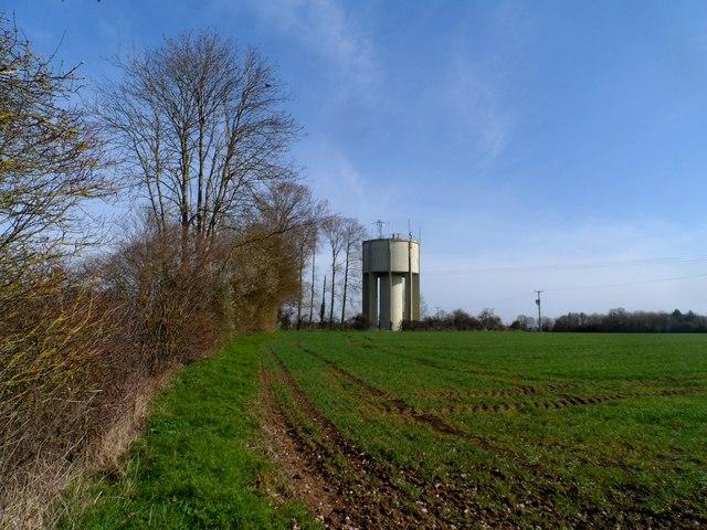 Water tower near Swilland