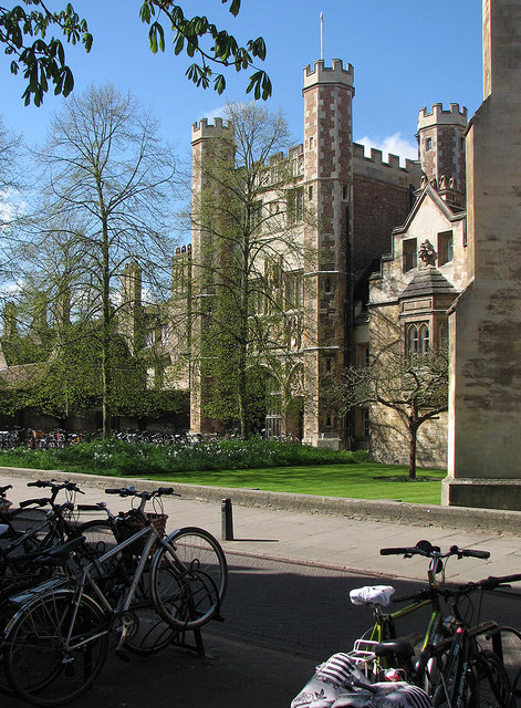 Trinity College Great Gate in April