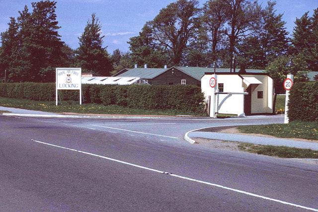 Main Gate and sentry box, R.A.F. Locking