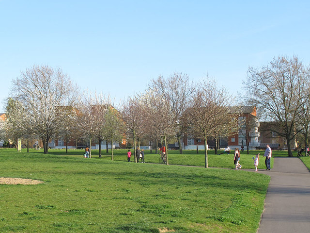 Paths in Burgess Park