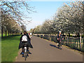 TQ3377 : Cyclists passing in Burgess Park by Stephen Craven