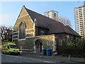 TQ3478 : St Philip's church hall, Avondale Square by Stephen Craven