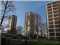TQ3478 : Avondale Square: tower blocks by Stephen Craven