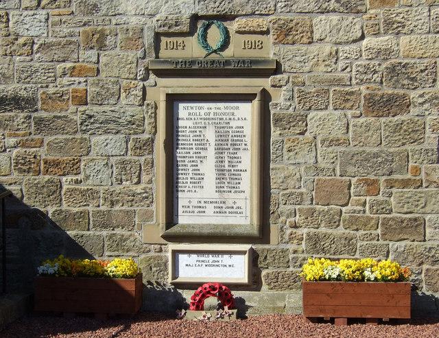 The Great War Memorial, Newton on the Moor