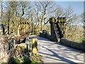 SD7215 : Castellated Footbridge, Turton Tower Estate by David Dixon