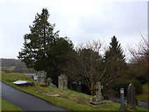 SD3598 : St Michael and All Angels, Hawkshead: churchyard (4) by Basher Eyre