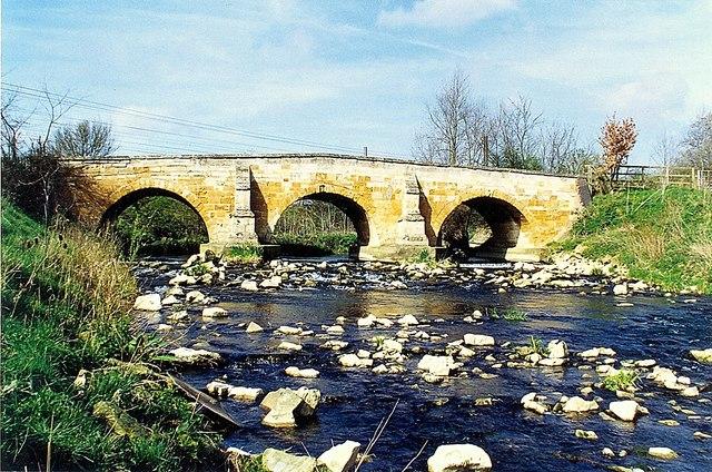 Stone bridge at Lolham, near Bourne, Lincolnshire
