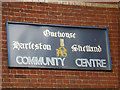 TM0259 : Onehouse Community Centre sign by Geographer