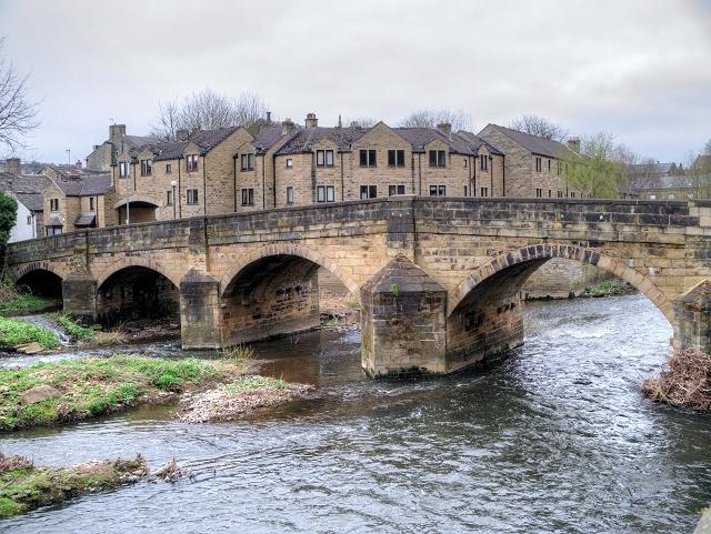 River Aire,  Ireland Bridge at Bingley