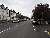 SP3265 : West along Russell Terrace, Royal Leamington Spa by Jaggery