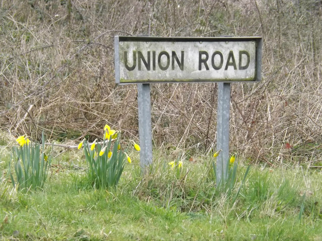 Union Road sign