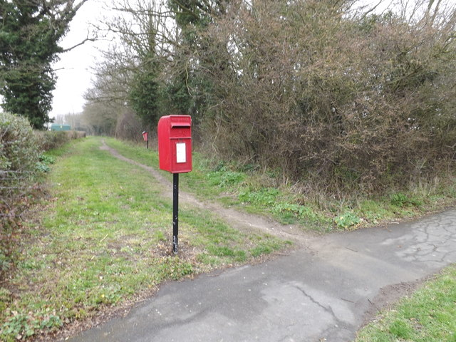 Stow Lodge Postbox & footpath