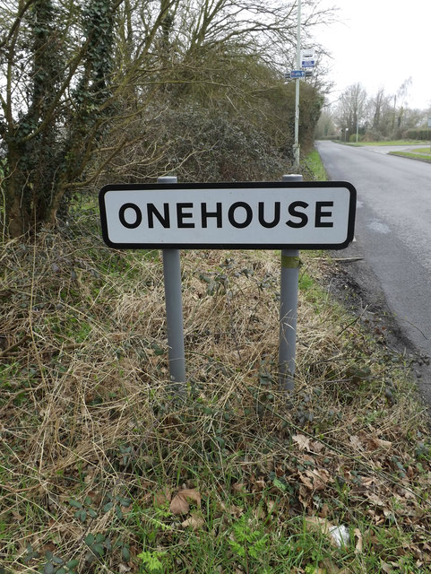 Onehouse Village Name sign on Union Road