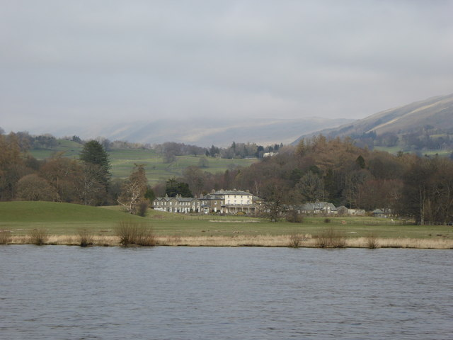 The eastern shore of Windermere north of Bowness-on-Windermere