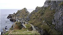 NJ5268 : Coast path, Logie Head by Richard Webb