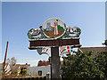 TG4202 : Reedham village sign (detail) by Adrian S Pye