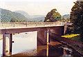 SH6640 : Maentwrog, 1992: A487 bridge over Afon Dwyryd, up Vale of Ffestiniog by Ben Brooksbank