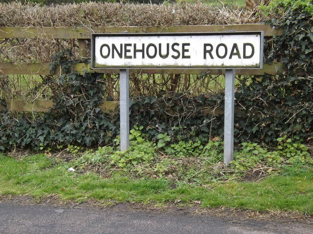 Onehouse Road sign