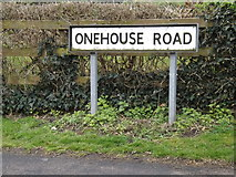 TM0458 : Onehouse Road sign by Adrian Cable