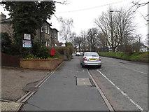 TM0458 : B1115 Finborough Road & Finborough Road Postbox by Adrian Cable