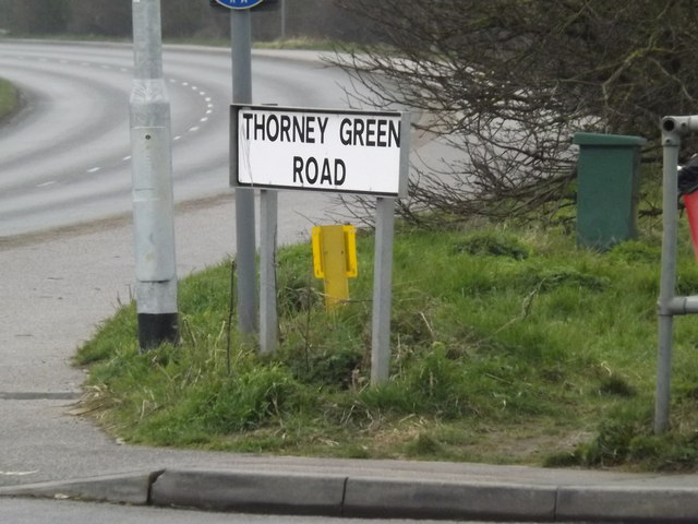 Thorney Green Road sign