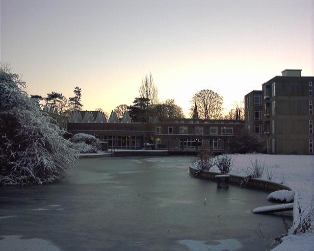 Sun rising over Derwent College
