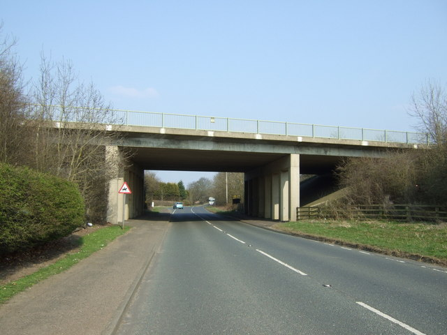 A1 bridge over the B6524
