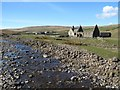 NY8133 : Harwood Beck & church ruin by Gordon Hatton