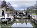 SE1040 : Top Lock Gate at Bingley Five-Rise by David Dixon
