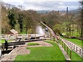 SE1040 : Looking Down the Five-Rise Locks at Bingley by David Dixon