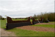 SK1426 : Eland Lodge Horse Trials: Palisade over Ditch and Hunters Hedge by Jonathan Hutchins