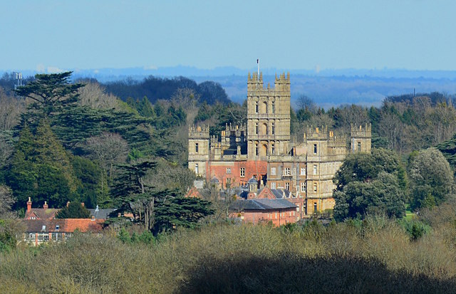 View towards Highclere Castle, Highclere, Hampshire