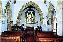 TF0627 : Inside the parish church at Kirkby Underwood, near Bourne, Lincolnshire by Rex Needle