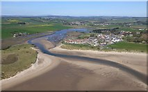 NU2410 : Alnmouth and Church Hill by Russel Wills