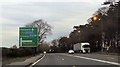 SJ7278 : Approaching A5033 junction from A556 by John Firth