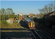 TL4197 : A Norwich train at March East Junction by John Sutton