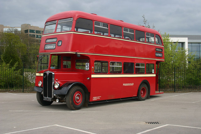 Vintage bus at London Bus Museum Open Day
