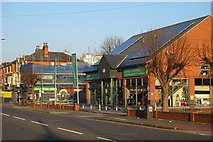SK5838 : Radcliffe Road: demolition at the builders' merchant by John Sutton