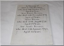 SD3598 : St Michael and All Angels, Hawkshead: memorial (vi) by Basher Eyre