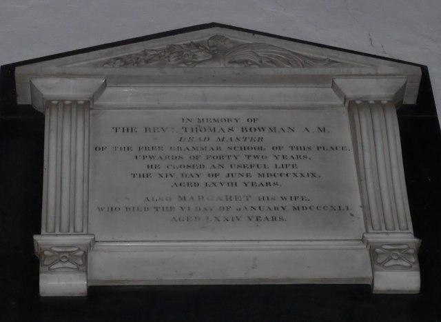 St Michael and All Angels, Hawkshead: memorial (xvi)